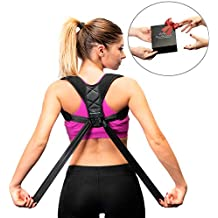 Clavicle Brace Posture Corrector for Women and Men – Breathable and Comfortable Posture Support Brace for Improving Upper Back Posture - Discreet Under Clothes Clavicle Support Posture Brace