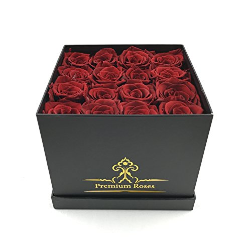 Best Valentines Gift for Her| Luxury Red Roses in a Box| Gifts for Women for Whom you loved Pretty Red Roses as Gifts For Her Nice Gifts For Girls Unique Gift for Mom