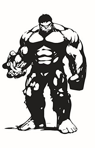 Marvel Avengers Hulk v2, Black, 6 Inch, Die Cut Vinyl Decal, For Windows, Cars, Trucks, Toolbox, Laptops, Macbook-virtually Any Hard Smooth -