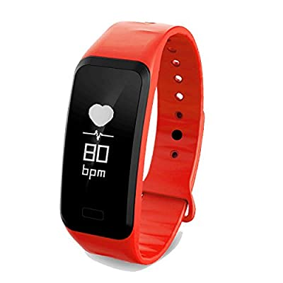 Fitness Tracker Bluetooth Smart Watch Waterproof Sport Pedometer Life Reminder Sleep Monitoring business Wristband for Android and IOS Y11 Black