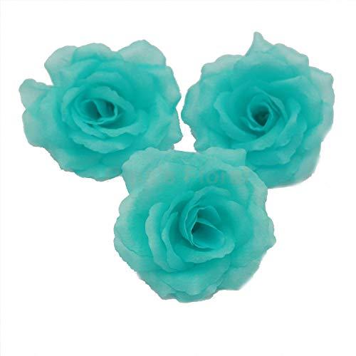 Silk Flowers Wholesale 100 Artificial Silk Rose Heads Bulk Flowers 10cm For Flower Wall Kissing Balls Wedding Supplies (Pool ()