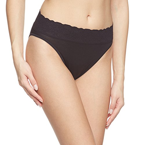 Calida Lycra Lace Hi Cut Brief Panties (21901) XS/Black