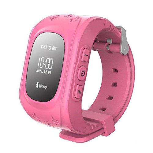 Kinder watch - TOOGOO(R) GPS Tracker Uhr Smartuhr Anti-Verschwunden Kinder Smartwatch, fuer Android und iPhone (rosa)