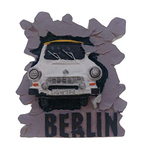 Germany Magnet Souvenirs Car Berlin Wall Germany 3D Refrigerator Fridge Magnets Souvenir Sticker Kitchen Resin