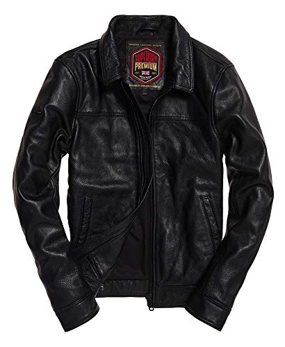 Superdry Curtis Leather Jacket (Superdry Mens Leather Jacket)