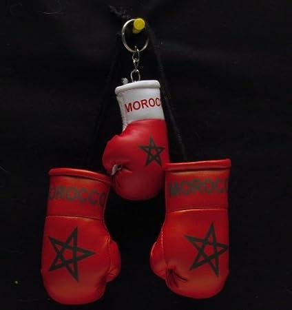 Mini guantes de boxeo para coche Marruecos + llavero: Amazon ...