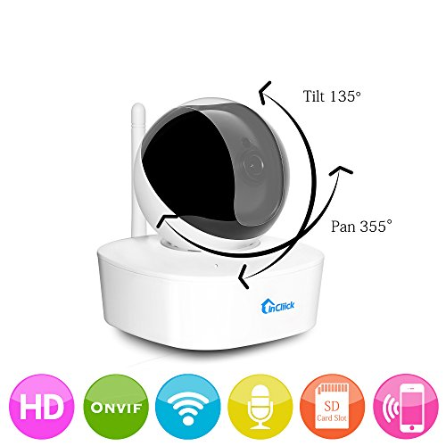 InCliick R2 Wireless Video Baby Monitor System With WiFi IP Digital Security Camera, HD 960P, Two Way Audio, Motion Detection, Alarm, Record, Night Vision, Pan Tilt, InCliick app for iOS Android