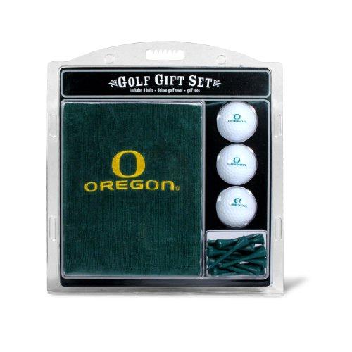 "Team Golf NCAA Oregon Ducks Gift Set Embroidered Golf Towel, 3 Golf Balls, and 14 Golf Tees 2-3/4"" Regulation, Tri-Fold Towel 16"" x 22"" & 100% Cotton"
