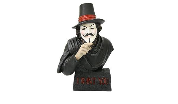 Guy Guido Fawkes Busto I Want You Gunpowder Plot líder figura Escultura: Amazon.es: Hogar