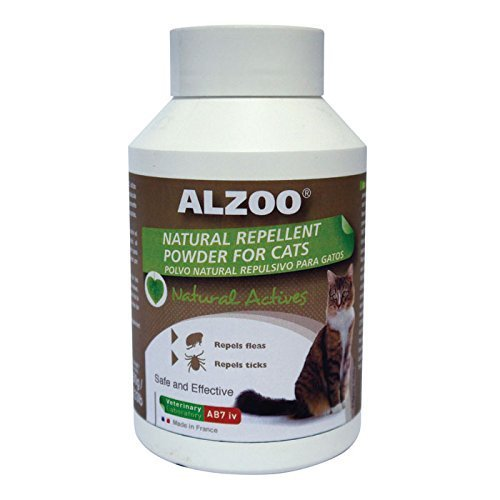 Amazon.com: ALZOO Natural Repellent Cleansing Powder for Cats 5.3 oz by Alzoo: Health & Personal Care