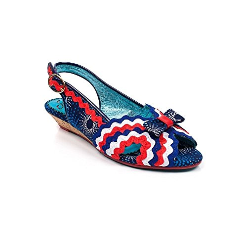 Poetic Punta Mujer Ruffle Licence Multi Abierta Navy Azul con Irregular Ruthie Choice Sandalias by A axgvqnrac