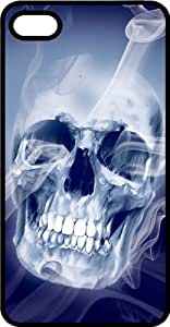 Smokey Skull Black Plastic Case for Apple iPhone 5 or iPhone 5s