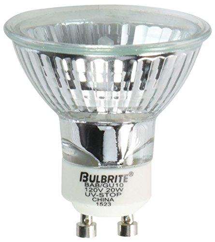 Bulbrite BAB/GU10 20-Watt Halogen MR16, 120V, GU10 Twist and Lock Base 38 Degree Flood Light Base Lensed 38 Degree Flood