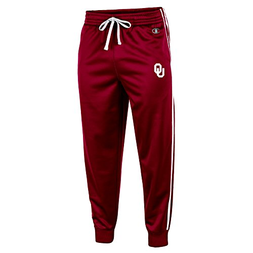 NCAA Oklahoma Sooners Men's Pull on Track Pants, Large, Crimson