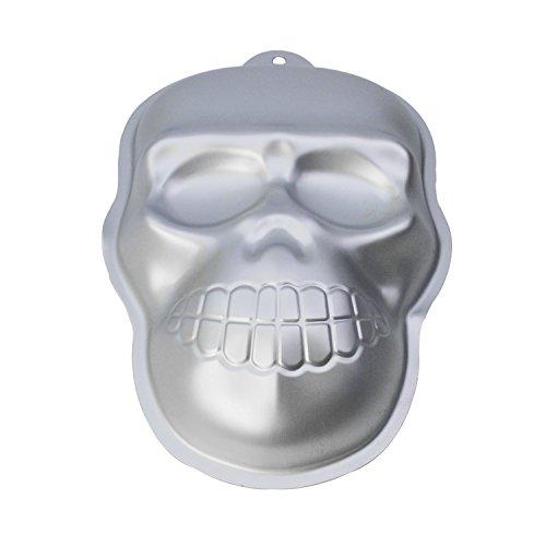 GXHUANG 10-inch Skull Cake Bake Mold Aluminum Alloy Ghost Cakes Baking Springform Pan (Skull) -