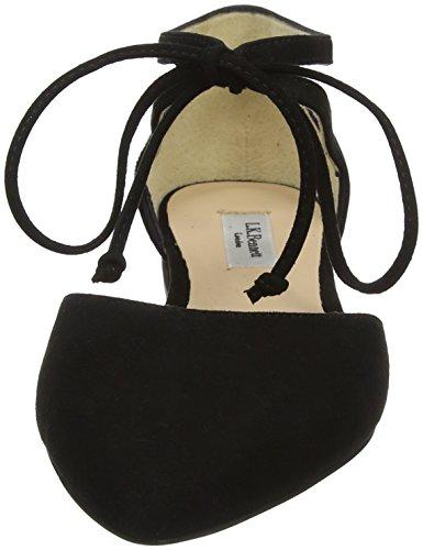 LK BENNETT Women's Elodie Ankle Strap Ballet Flats Blue (Bla-black 002) sale real c3QC8DRF