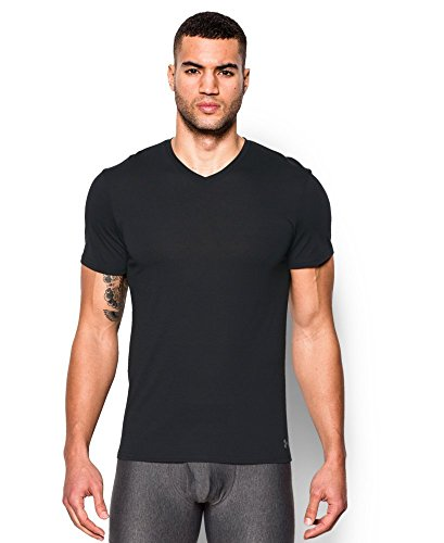 Undershirts Wicking Moisture - Under Armour Men's Core V-Neck Undershirt, Black/Steel, XXX-Large