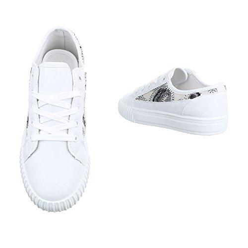 Ital-Design - Tobillo bajo Mujer blanco gris