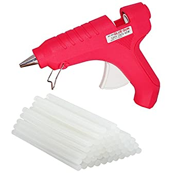 billionBAG Glue Gun 40 Watt Hot Melt Electronic Glue Gun, High Tech Heating Technology, For Art Craft/DIY/Woods/Paper/Cloth/Science Projects/School Projects (Red,4 Glue Gun Stick Included)