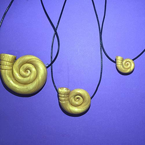 Ursula Jewelry - Ursula Golden Seashell Necklace for Ursula Disneybound -