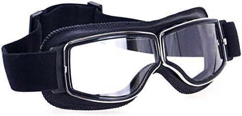 REFURBISHHOUSE Klassische Retro Motorrad Brille Brille Vintage Moto f/ür Pilot Brille f/ür Helm UV Schutz