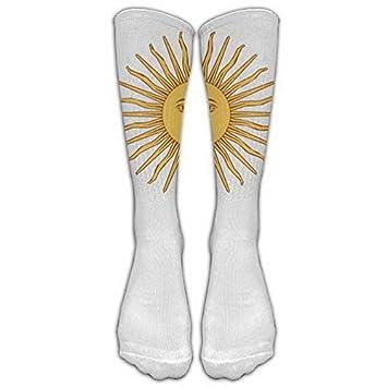 Argentina Flag Sun White Stockings Long Tube Socks, Great Quality Classics Knee High Socks Sports