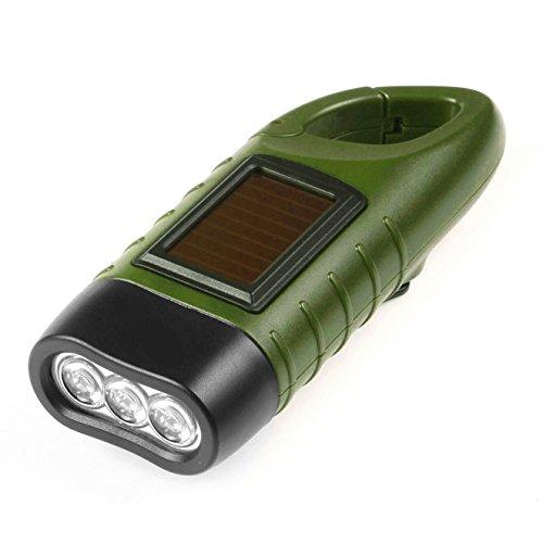 Hand Cranking Solar Powered Flashlight