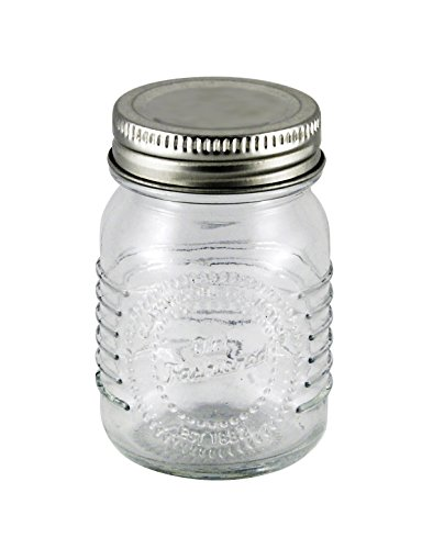 Grant Howard 2.5 Ounce Old Fashioned Spice Jars with Metal Top, Set of 12 ()