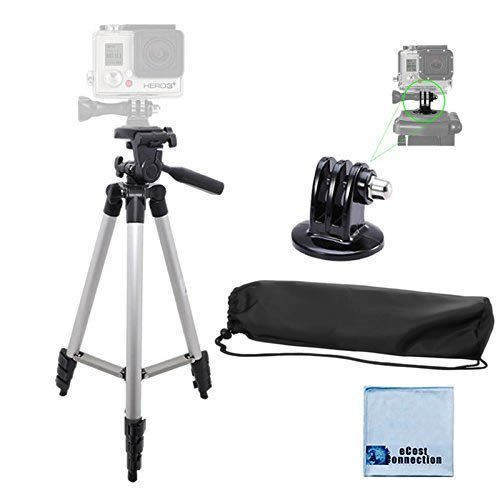 50-Aluminum-Camera-Tripod-with-Built-in-Bubble-Level-Indicator-for-All-GoPro-HERO-Cameras-Tripod-Mount-an-eCostConnection-Microfiber-Cloth