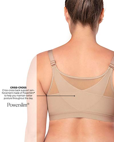 9a43c0f4726 Leonisa Back Support Posture Corrector Wireless Sports Bra for Women with  Contour Cups