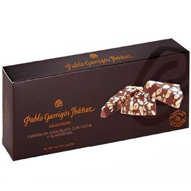Pablo Garrigós Ibáñez Barra de Turrón de Chocolate con Leche y Almendras - 300 gr: Amazon.es: Alimentación y bebidas