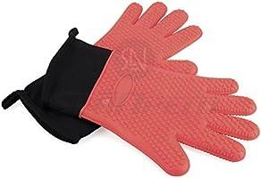 Antideslizante guantes de horno de silicona, resistente al calor y ...