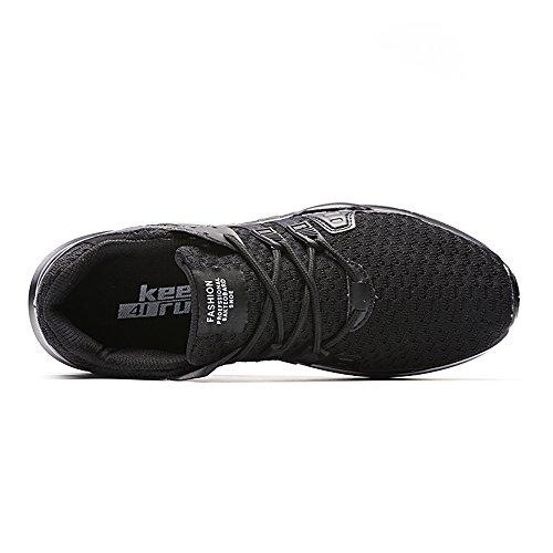 Flats Trainer Sneaker amp; Schuhe Mesh Freizeitschuhe Herren XIANV Breathable Schwarz 44 Größen Paar Air Schnüren Sich XRUaYnvq