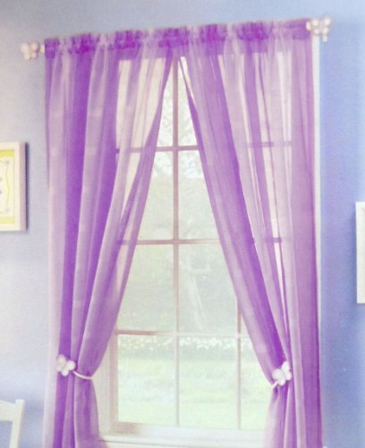 Pair of 2 Purple Violet Panels - 52