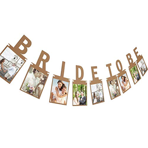 (Tatuo Bridal to Be Photo Banner Bride Bunting for Wedding Decoration and Bridal Shower Party Supply (Brown))