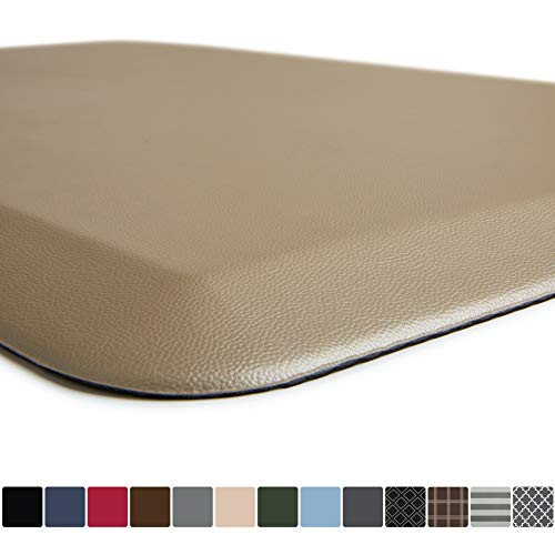 GORILLA GRIP Original Premium Anti-Fatigue Comfort Mat, Phthalate Free, Ships Flat, Ergonomically Engineered, Extra Support and Thick, Kitchen and Office Standing Desk, 32x20, Beige