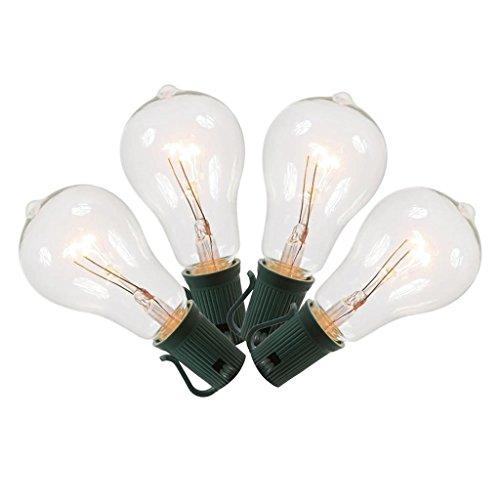 Vickerman 365953 - 7 watt 130 volt PS50 E17 Base Warm White Transparent Bulb (set of 5) (V13PS61)