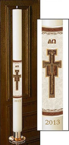 No 9 San Damiano Paschal Candle by Will & Baumer
