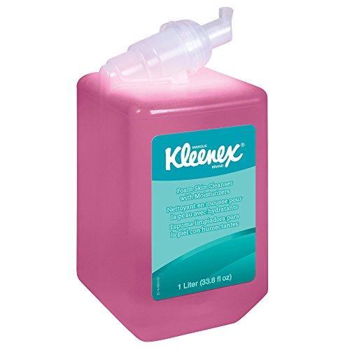 Kleenex Liquid Hand Soap with Moisturizers (91552), Pink, Floral Scent, 1.0L, 6 Bottles/Case