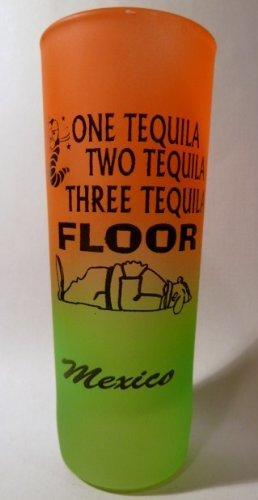 Mexico One Tequila Neon Orange-Neon Green Shooter Shot ()