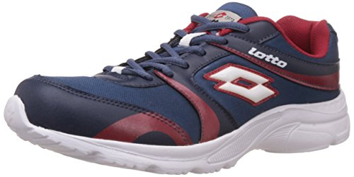 Lotto Men's Pacer Navy and Red Mesh Running Shoes - 8 UK