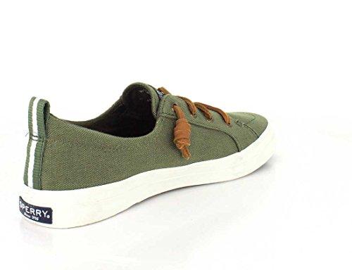 Sperry Top-sider Kvinders Våbenskjold Vibe Crepe Chambray Sneaker Oliven mfn1ss8m