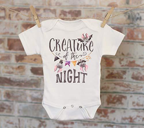 Creature Of The Night Bats Onesie®, Halloween Onesie, Fall Onesie, Cute Baby Bodysuit, Cute Onesie, Boho Baby Onesie, Halloween Bats