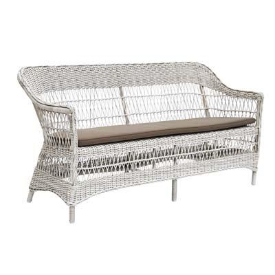 Sika Design 3-Sitzer Bank Charlot Weiß