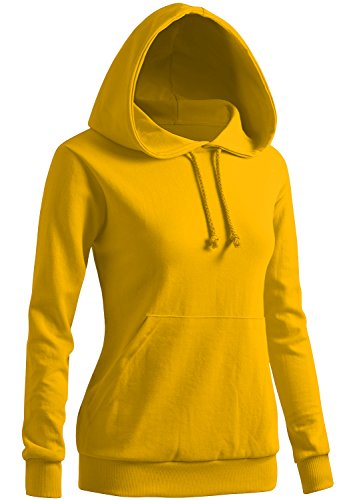 CLOVERY Women's Color Contrast Long Sleeve Hoodie YELLOW US L / Tag L