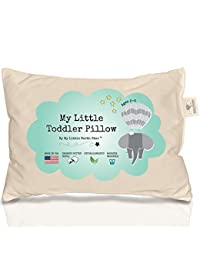 Toddler Pillow 100% ORGANIC Cotton HYPOALLERGENIC & WASHABLE made in USA - Unisex kids pillow - 13X18 (No pillowcase needed) BOBEBE Online Baby Store From New York to Miami and Los Angeles