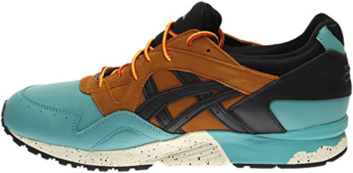 ASICS Gel-Lyte V G-TX Men Round Toe Leather Red Running Shoe Black;tan hKrfcDC