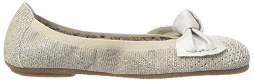 Gold Zehe Silber 90 Gold Damen 41497 geschlossener Weissgold Weiß Ballerinas Rieker mit für wn8FgfqxC