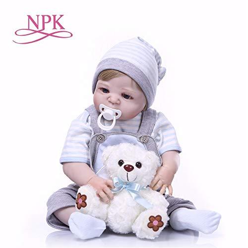 Reborn Dolls, NPK Baby Reborn Dolls Toy Full Silicone Vinyl 23cm Real Life Bebe Reborn Alive Doll Hot Toys for Girls Bear from NPK DOLL