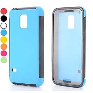 TOPAA ships in 48 hours 2 in 1 Detachable Full View Window Design Oil Coated TPU and PC Back Case for Samsung Galaxy S5 mini(Assorted Colors) , Blue